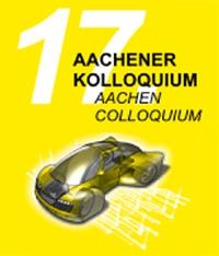Logo 17. Aachener Kolloquium gelber Hintergrund mit Auto