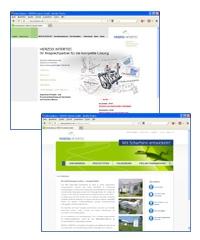 Bild Screenshot der Internetseite von HERZOG INTERTEC