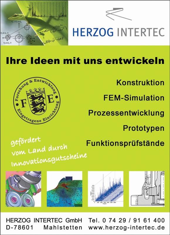 Flyer HERZOG INTERTEC Eingetragene FE-Einrichtung