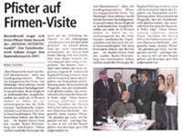 Ernst Pfister beim Besuch der Herzog Intertec GmbH
